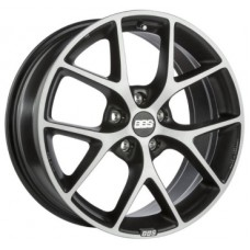 BBS SR 7,5х17 PCD:5x120  ET:35 DIA:82.0 цвет:Vulcano Grey Diamond Cut