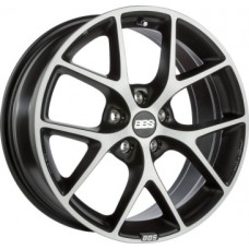 BBS SR 8,0х18 PCD:5x100  ET:48 DIA:70.0 цвет:Vulcano grey black diamond cut