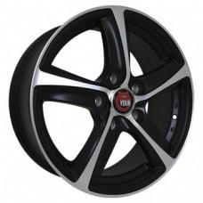 Ё-wheels E09 5,5х14 PCD:5x100  ET:38 DIA:57.1 цвет:MBF (черный,полировка)