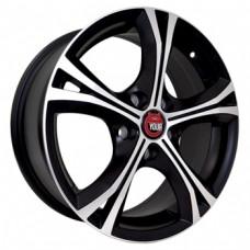 Ё-wheels E11 5,5х14 PCD:4x100  ET:45 DIA:56.6 цвет:MBF (черный,полировка)
