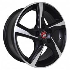 Ё-wheels E18 5,5х14 PCD:4x98  ET:35 DIA:58.6 цвет:MBF (черный,полировка)