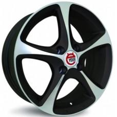 Ё-wheels E22 5,5х14 PCD:4x100  ET:49 DIA:56.6 цвет:MBF (черный,полировка)