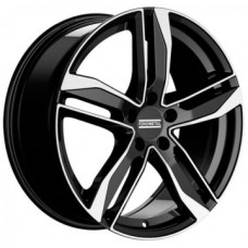 Fondmetal Hexis 8,0х18 PCD:5x112  ET:48 DIA:57.1 цвет:Black Glossy Machined