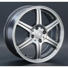 LS-Wheels 176 6,5х16 PCD:5x100  ET:48 DIA:56.1 цвет:GMF (темно-серый,полировка)
