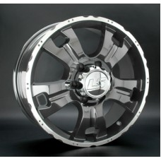 LS-Wheels 214 7,0х16 PCD:5x139,7  ET:5 DIA:108.1 цвет:GMF (темно-серый,полировка)