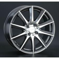 LS-Wheels 286 6,0х14 PCD:5x100  ET:35 DIA:57.1 цвет:GMF (темно-серый,полировка)