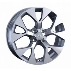 LS-Wheels 1007 6,5х17 PCD:4x100  ET:40 DIA:60.1 цвет:GMF (темно-серый,полировка)