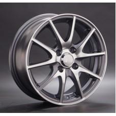 LS-Wheels 536 6,0х15 PCD:4x100  ET:40 DIA:73.1 цвет:GMF (темно-серый,полировка)