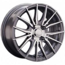 LS-Wheels 791 6,0х14 PCD:4x98  ET:35 DIA:58.6 цвет:GMF (темно-серый,полировка)