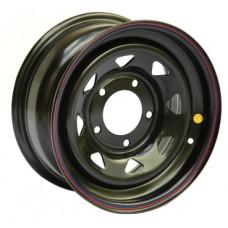 Off-Road-Wheels УАЗ 7,0х15 PCD:5x139,7  ET:0 DIA:110.0 цвет:BL (черный глянцевый)