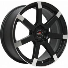 Yokatta MODEL-56 8,0х18 PCD:5x120  ET:30 DIA:72.6 цвет:MBF (черный,полировка)