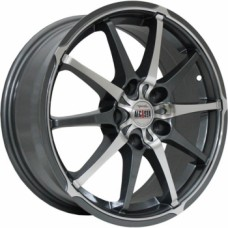 Диски Alcasta M10 6,0х15 PCD:4x100 ET:50 DIA:60.1 цвет:GMF (темно-серый,полировка)
