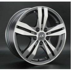 Диски LS-Wheels 142 6,5х16 PCD:5x114,3 ET:50 DIA:73.1 цвет:GMF (темно-серый,полировка)