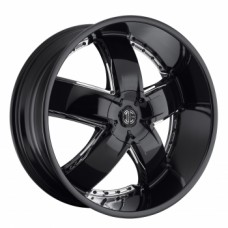 Диски Harp Y-18 9,5х20 PCD:6x139,7 ET:15 DIA:108.1 цвет:GLOSS Black / Chrome Attachment
