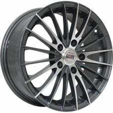 Диски Alcasta M02 5,5х14 PCD:4x100 ET:43 DIA:60.1 цвет:GMF (темно-серый,полировка)