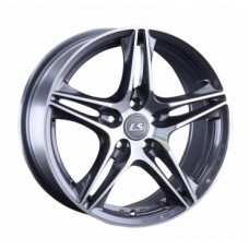 Диски LS-Wheels 1056 7,0х16 PCD:5x100 ET:43 DIA:57.1 цвет:GMF (темно-серый,полировка)