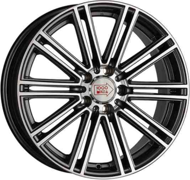 1000-Miglia MM1005 8,0х18 PCD:5x114,3  ET:40 DIA:67.1 цвет:Dark Anthracite Polished